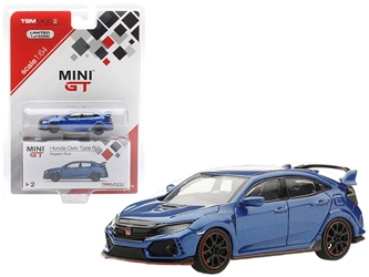 Honda Civic Type R Left-hand Drive Aegean Blue Limited Edition to 6,000 pieces 1/64 Diecast Model Car by True Scale Miniatures
