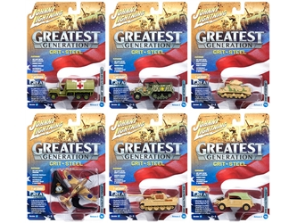 """The Greatest Generation"" Military Release 2 Set A of 6 Limited Edition to 2,500 pieces Worldwide 1/64, 1/87, 1/100, 1/144 Diecast Models by Johnny Lightning, Johnny Lightning Item Number JLML002A"