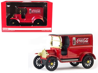 "1917 Ford Model T Cargo Van ""Coca-Cola"" Red with Black Top 1/24 Diecast Model Car by Motorcity Classics, Motorcity Classics Item Number 424197"