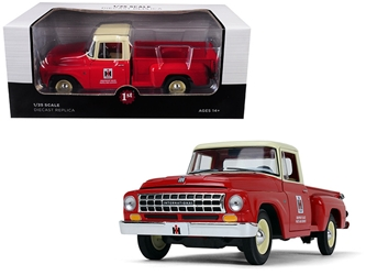 "International Harvester C1100 ""Parts and Service"" Pickup Truck Red with Cream Top 1/25 Diecast Model Car by First Gear, First Gear Item Number 40-0417"