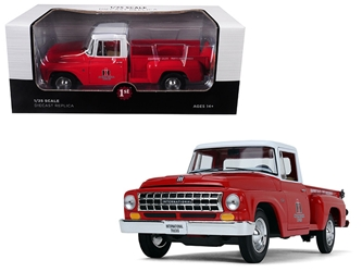 "International Harvester C1100 ""International Trucks"" Pickup Truck Red with White Top 1/25 Diecast Model Car by First Gear, First Gear Item Number 40-0418"