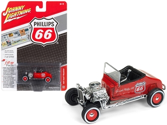 "1927 Ford T-Roadster ""Phillips 66"" Orange Metallic Limited Edition to 2,760 pieces Worldwide 1/64 Diecast Model Car by Johnny Lightning, Johnny Lightning Item Number JLSP011"