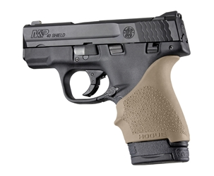 Hogue HAll Beavertail Grip Sleeve S&W M&P Shield Ruger LC9 Flat Dark Earth by Hogue Item Number 18403
