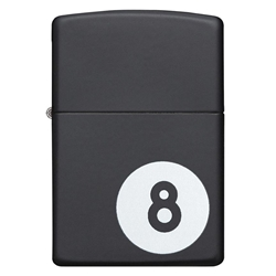 Zippo Windproof Lighter Billiards 8-Ball Black Matte by Zippo Item Number 28432