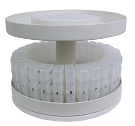 North American Health Care Pill Organizer 31 pill holders Rotates 360 degrees by JOBAR Item Number JB6300