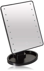 Ideaworks Light Up Mirror Large 16 LED Lights Rotating Mirror Magnifier Tray Battery Powered by JOBAR Item Number JB8113DLX