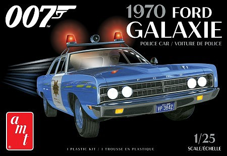 70 Ford Galaxie Police Car Bond 1:24