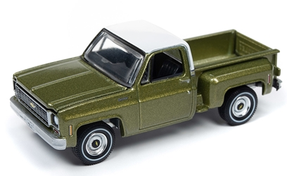 1973 Chevy Cheyenne Stepside Pickup in Lime Green and White