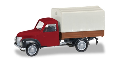 Framo 901/2 Canvas Truck in Red  1:120), Herpa Item Number HE066198