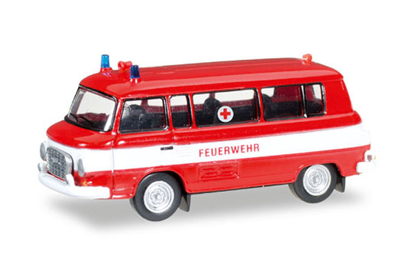 Fire Department / Red Cross - Barkas B 1000 Bus (1:60), Herpa Item Number HE066556