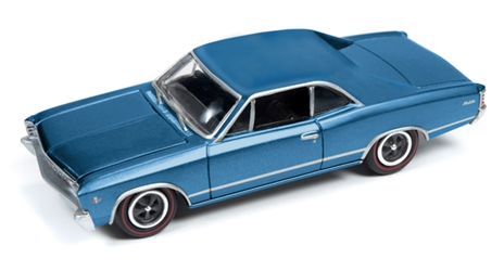 1967 Chevy Chevelle in Blue Johnny Lightning Muscle Cars Series (1:64), Johnny Lightning Item Number JLMC006-B